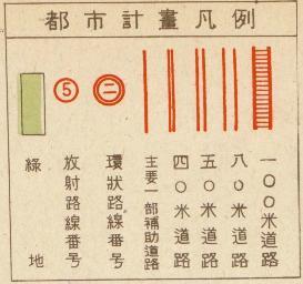 新生東京都都市計画図凡例1946