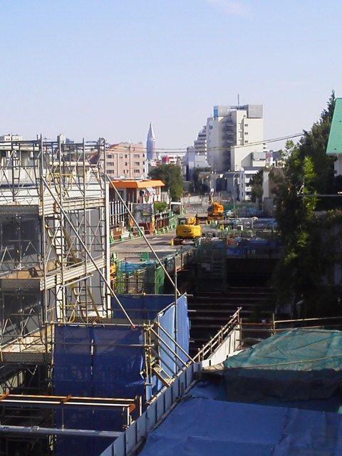 下北沢 複々線化 2015.11-3