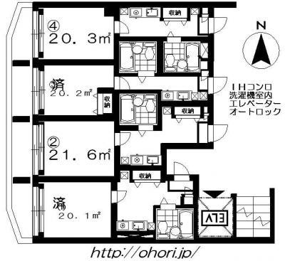 下北沢 賃貸 マンション デザイナーズ 外壁コンクリート打放 内装白大理石調床 オートロック 最上階角 写真1-1