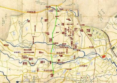 目黒筋御場絵図・現代の地名などを記述