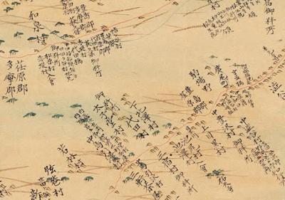 大日本沿海輿地全図(伊能図)から荏原郡の下北澤村を探す