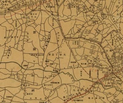 東京市及附近番地入地図1916