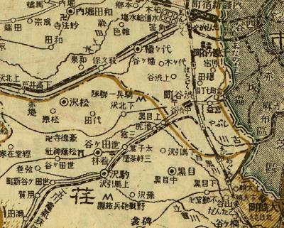 東京府全図(東京府里程)1916