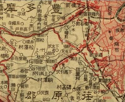 東京府全図1920