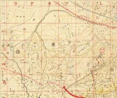 最新模範東京市全図1923