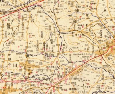 大東京市郊外地図番地入1925