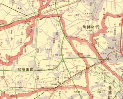 大正十四年東京全図1925