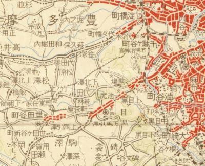 大日本帝国陸地測量部東京近郊