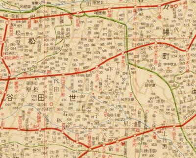 番地入東京郊外地図1931