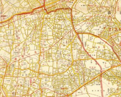 東京市・隣接町村合併記念地図1932