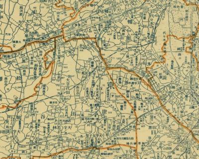 東京近郊地図(郡分町村地番入)1932