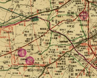 東京近郊地図(昭和7)
