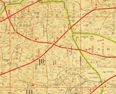 模範新大東京全図1934