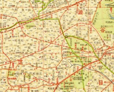 番地入新大東京全図1936