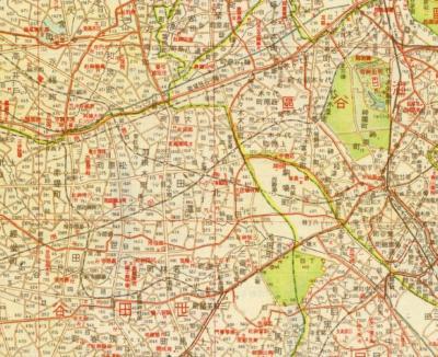 番地入大東京明細地図1940