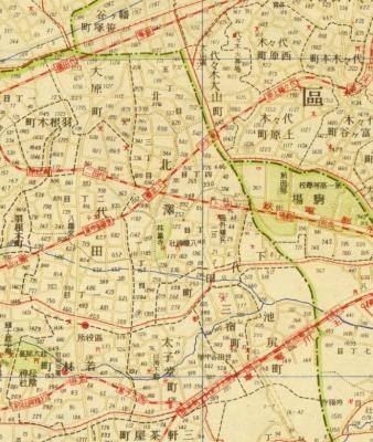大東京明細地図町界丁目界番地入1941