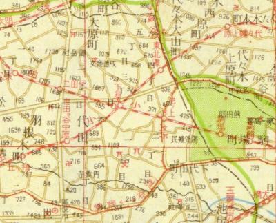 番地入新大東京全圖1941