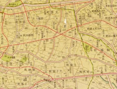 最新大東京案内図1942