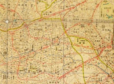 最新大東京明細地図町界丁目界番地入1943