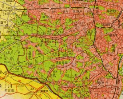 東京都全図1943・世田谷区周辺