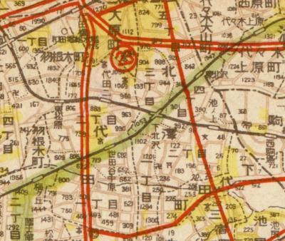新生東京都都市計画図ミクロ1946