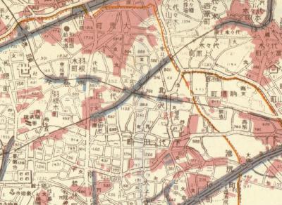 戦災焼失区域表示帝都近傍図1946