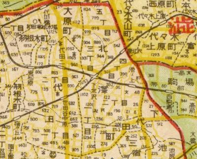 新区制東京全図1947