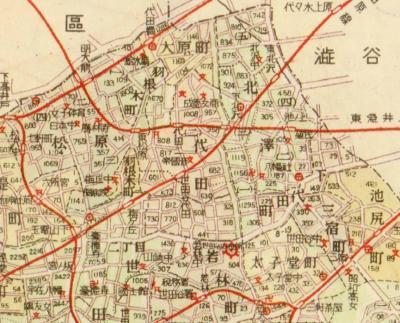 新23区制世田谷区下北沢周辺1949