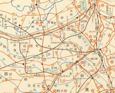 東京都管内図1950