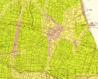 東京都市計画図世田谷区1960