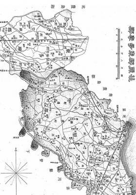 荏原郡の絵図(1893年 新撰東京府分図 荏原郡)