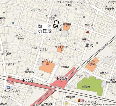 1階 店舗 事業用賃貸物件情報 下北沢駅・北口より徒歩3分 世田谷区・北沢2丁目 所在地・地図
